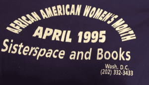 Sisterspace and Books ordained April as African American Women's Month