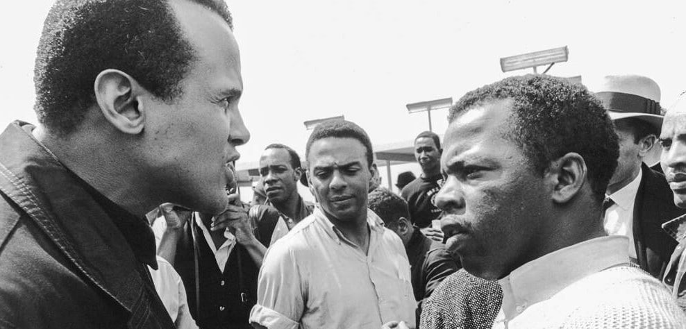 Harry Belafonte, Andrew Young and Jim Lewis